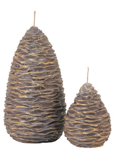 Gold-highlighted Pine Cones