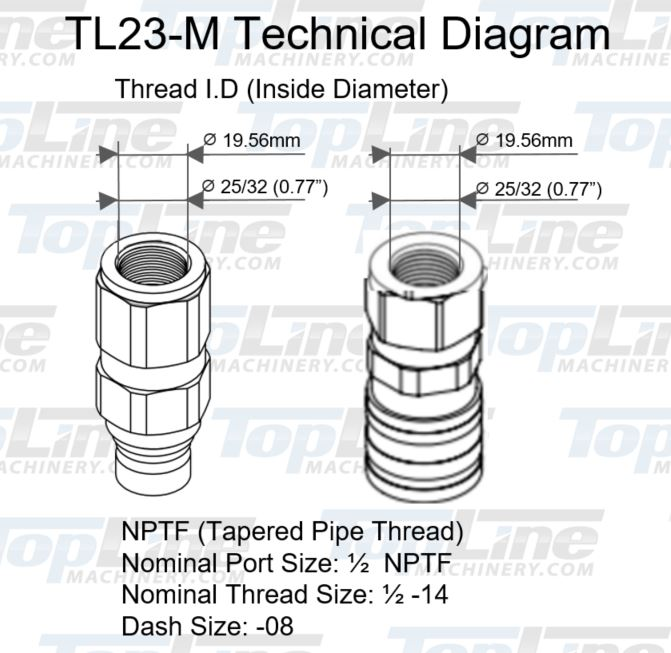 tl23 2 u0026quot  npt thread flat face quick connect hydraulic