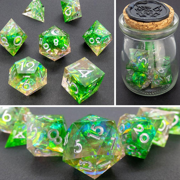 Borealis Handcrafted Dice Set (Pre-order) | DICEBOUND ✦ Your Canadian Dice Company