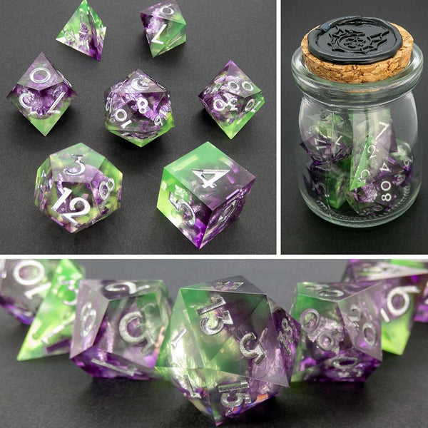 Celeste Handcrafted Dice Set (Pre-order) | DICEBOUND ✦ Your Canadian Dice Company