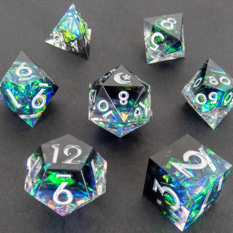 Dark Matter Handcrafted Dice Set (Pre-order) | DICEBOUND ✦ Your Canadian Dice Company
