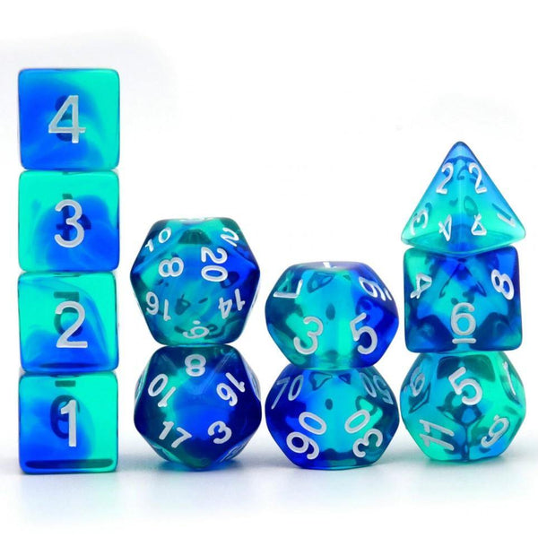 Fluorite - RPG Dice Set (11 Pieces) | DICEBOUND ✦ Your Canadian Dice Company