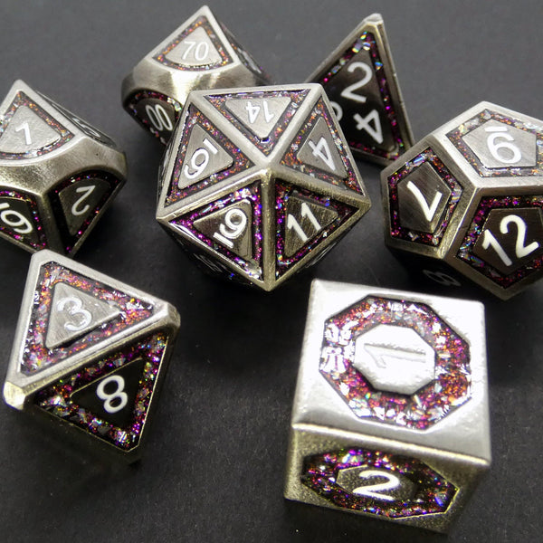 Pink Crush - Metal RPG Dice Set - DICEBOUND