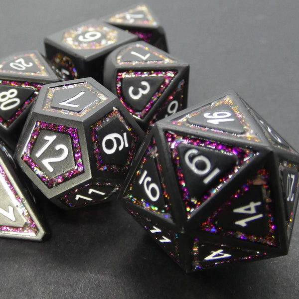 Black Pink - Metal RPG Dice Set | DICEBOUND ✦ Your Canadian Dice Company