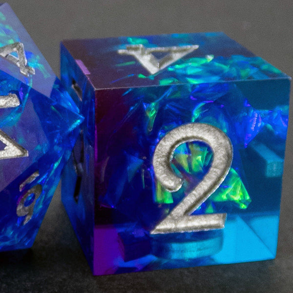 Cassiopeia Handcrafted Dice Set (Pre-order) | DICEBOUND ✦ Your Canadian Dice Company