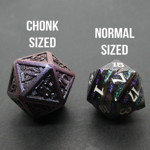 Pirate Queen - Metal RPG Dice Set (Color Shifting, Chonk Sized) - DICEBOUND