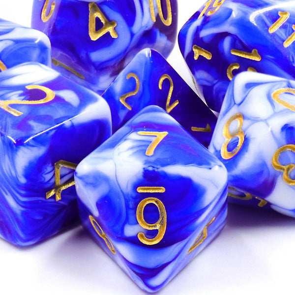 Porcelain - RPG Dice Set - DICEBOUND