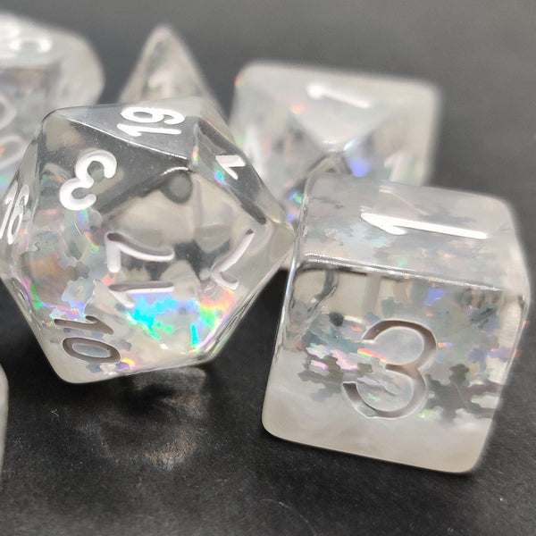 Snow - RPG Dice Set - DICEBOUND