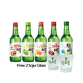 Jinro Soju x 5 Btl - Free 2 Soju Glass (Mix)
