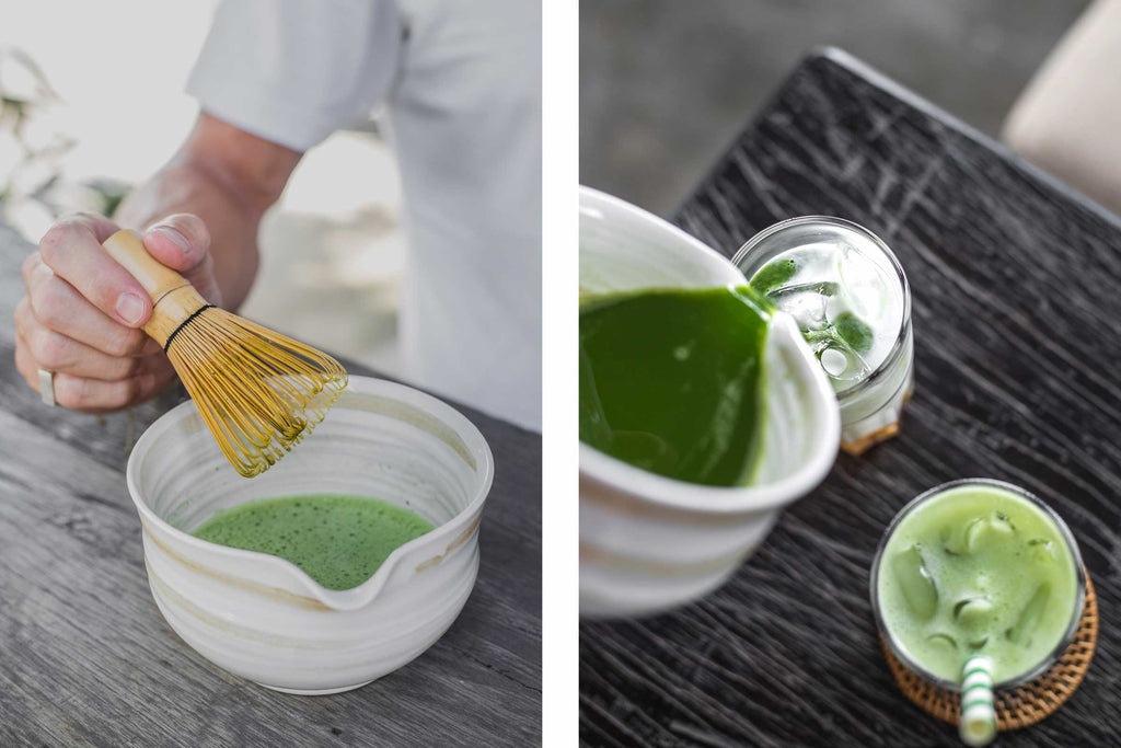 How to prepare iced matcha latte with natural ingredients recipe