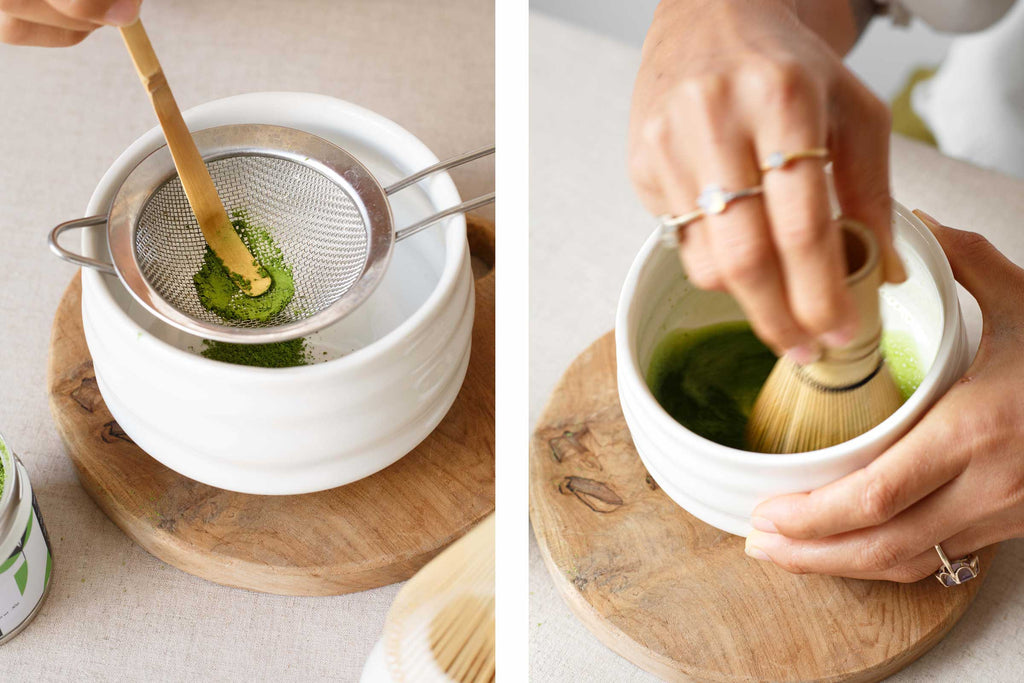 How to prepare matcha green tea using ceremonial master grade from Matcha Cafe Bali