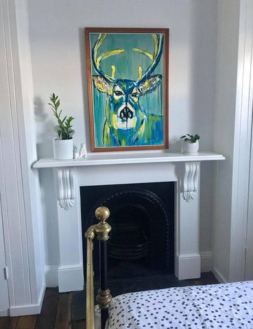 Stag Painting as commissioned