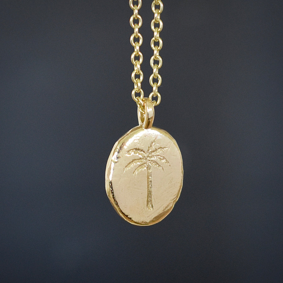 Island Gold Palm Necklace