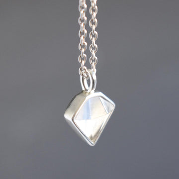 Treasure Diamond Silver Necklace