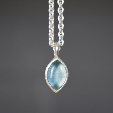 Treasure Ellipse Silver Necklace