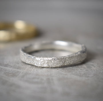 Granite Silver Medium Ring