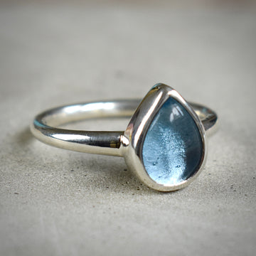 Treasure Pear Silver Ring
