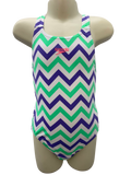Speedo Medalist One Piece - Zig Zag Green/Purple