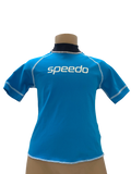 Speedo Sun Top (Short Sleeve) - Logo Blue/White