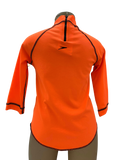 Speedo Sun Top (Long Sleeve) - Logo Fluro Orange/Black