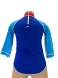 Speedo Sun Top (Long Sleeve) - Logo Navy/Sky Blue/ Red