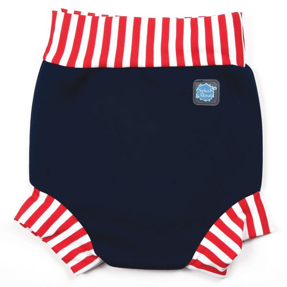 Happy Nappy - Navy/Red