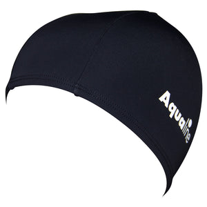Aqualine Lycra Swim Cap - Black