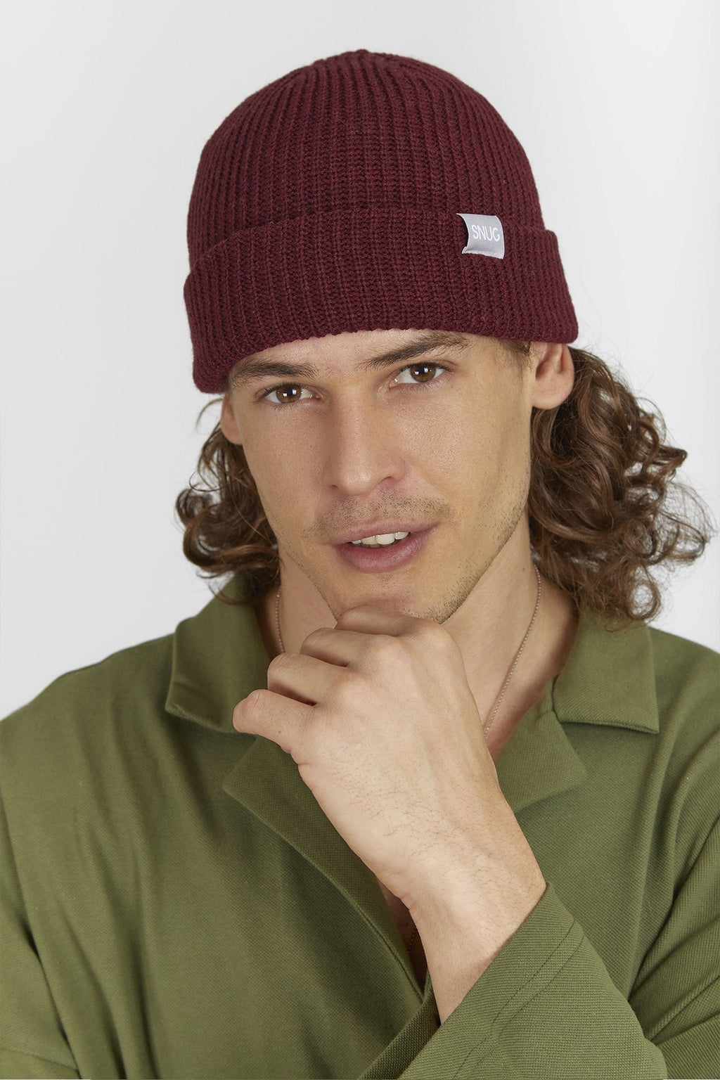 """Warm Cherry Fisherman Bere - Beanie snugbrandwear"""