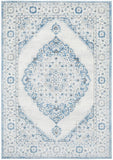 Emily Traditional Blue and White Floral Pattern Rug