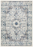 Isla Timeless Grey and Blue Transitional Rug