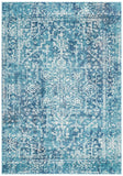 Masie Transitional Blue and White Rug
