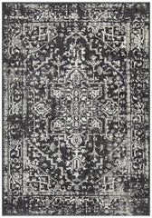 Sia Transitional Charcoal Monochrome Rug