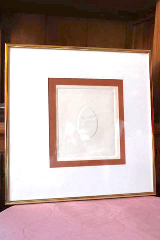 Minimalist Embossed Art in Frame