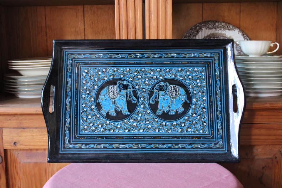 Wood Elephant Tray