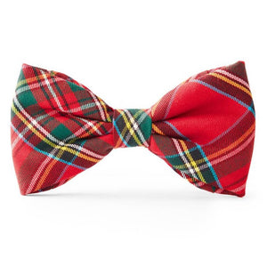 Tartan Plaid Dog Bow Tie
