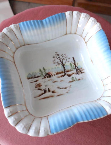 Winter Serving Bowl