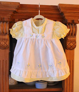 Yellow Springtime Pinafore Dress - 18 mos