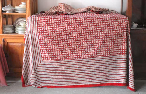 Red Caravan Tablecloth
