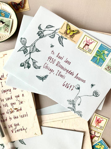 Samantha Meyer Studio Botanical Snail Mail Stationery Set