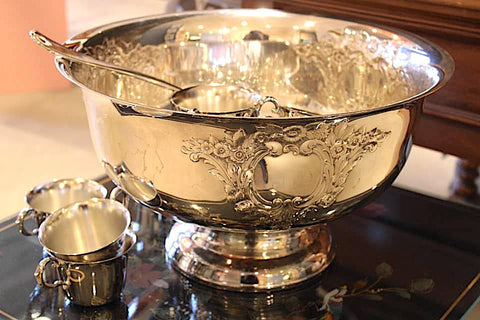 Silverplate Punch Bowl Set