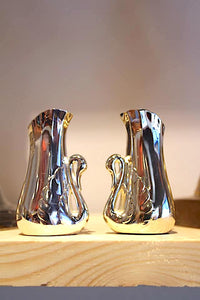 Silver Swan Salt and Pepper Shakers