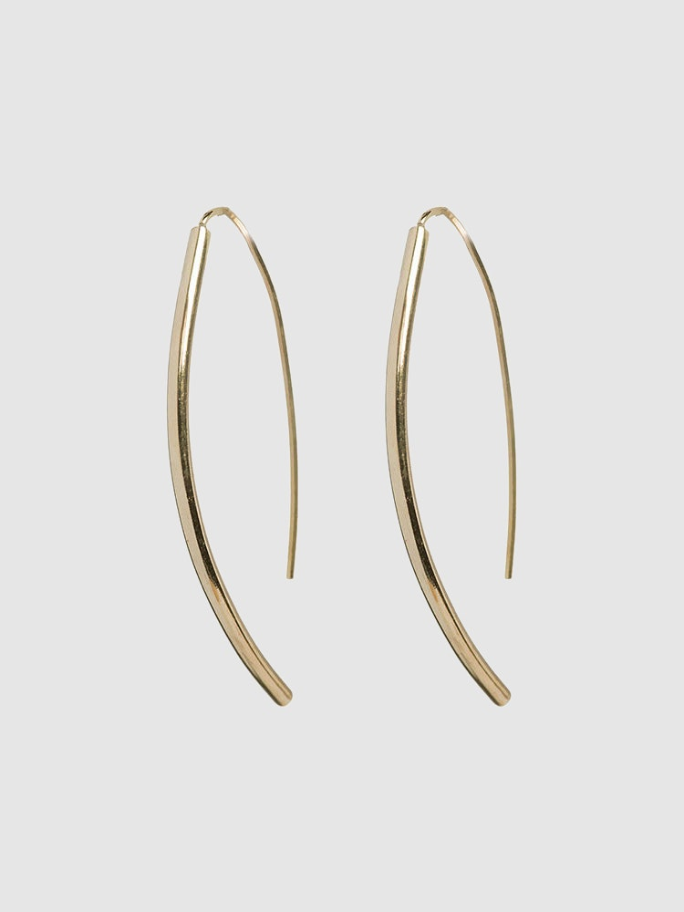 Petite Gold Bow Earrings