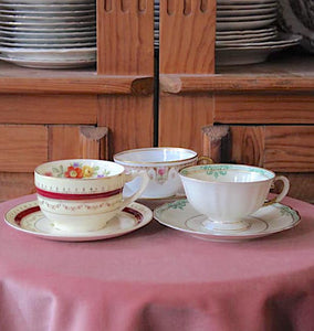 Fine China Teacup and Saucer Set
