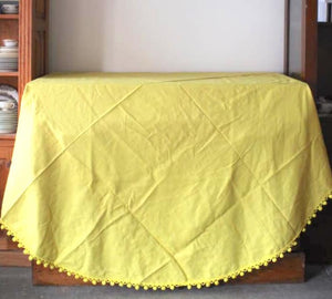 Yellow Pom Pom Tablecloth