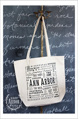 Ann Arbor Natural Large Canvas Tote - East Arbor Goods