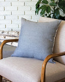 "French Linen 23"" Blue-Gray Pillow - East Arbor Goods"