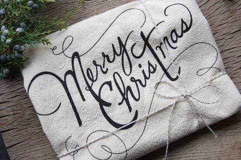 Merry Christmas Flour Sack Towel - East Arbor Goods