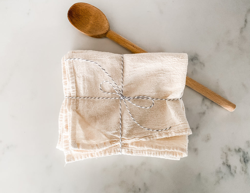 Kitchen Flour Sack Towels, Set of 3 - East Arbor Goods