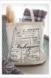 Michigan Natural Large Canvas Tote Bag - East Arbor Goods
