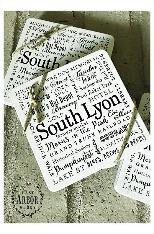 South Lyon Coasters, Set of 6 - East Arbor Goods